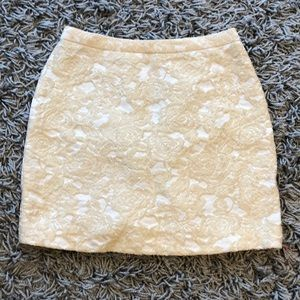 Gorgeous Cream mini skirt